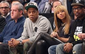 Jay Z and B Courtside