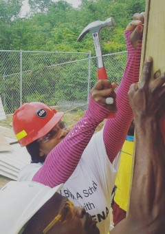 Serena Williams with Hammer